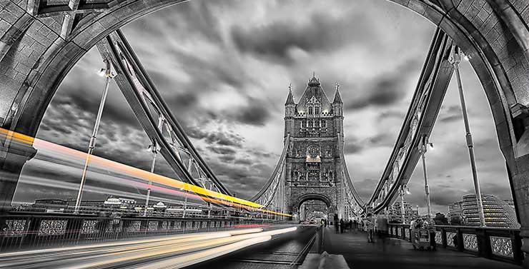 Long exposure Image from Tower Bridge London by kfPhotography