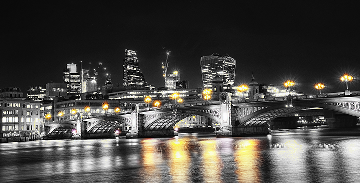 Long exposure Image from Southwark Bridge London by kfPhotography